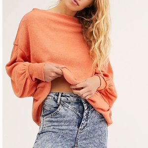 Free People Main Squeeze Hacci Pullover Sweater